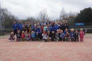 Deelnemers tennisclinic Jacco Eltingh