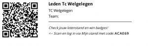 QR-code van TC Welgelegen voor Grote Clubactie